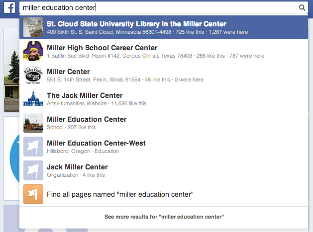 How to search in Facebook