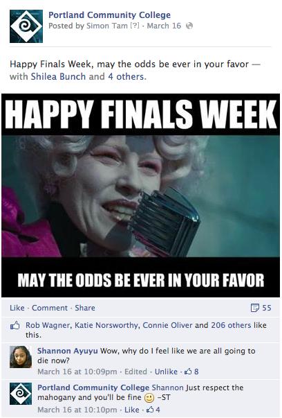 Portland Community College Facebook 2