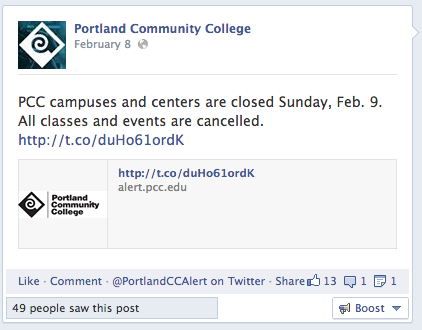 Portland Community College Facebook 6