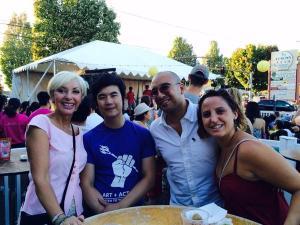 Nancy Hales, me, Tyler Chen, Chanda Chen