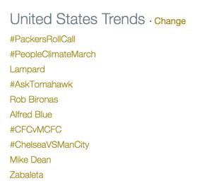 Top Trending Tweets