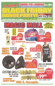 Black Friday party ad